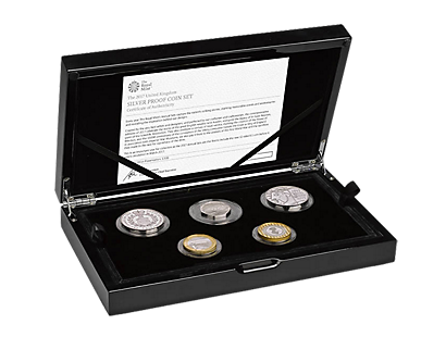 The 2017 United Kingdom Silver Proof Commemorative Coin set