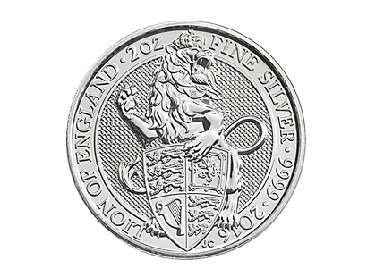 The Queen's Beasts 2016 – The Lion 2 oz Silver Coin