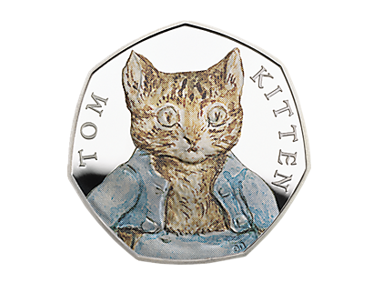 Tom Kitten Silver Proof 50p Coin