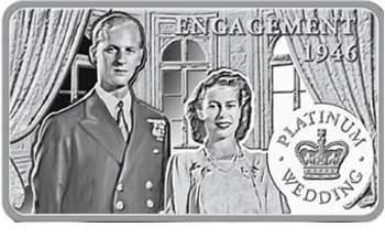 Platinum Wedding Anniversary silver coins